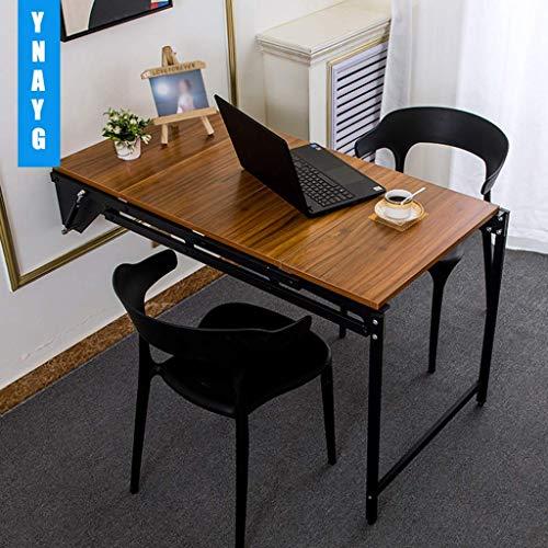 Mesa Plegable de Hoja abatible montada en la Pared, Escritorio Flotante Plegable multifunción para Escritura de computadora, Escritorio Colgante de Pared de Madera para Oficina en casa