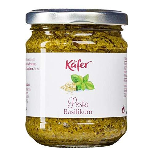 Feinkost Käfer Pesto Basilikum – ohne Knoblauch – Vorratskarton 12 Gläser
