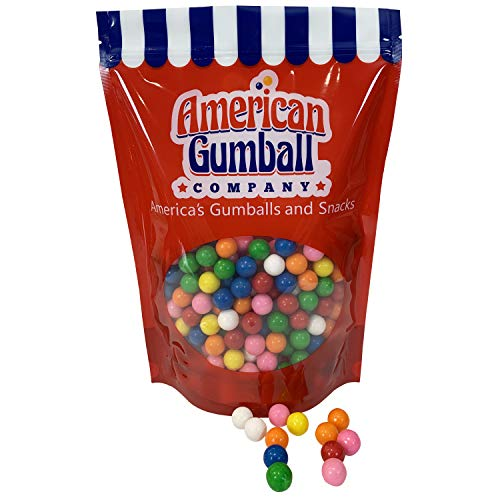 American Gumball Company Assorted Refill Gumballs 2 Pound Bag - .62 inch Small Gumballs for Gumball Machine