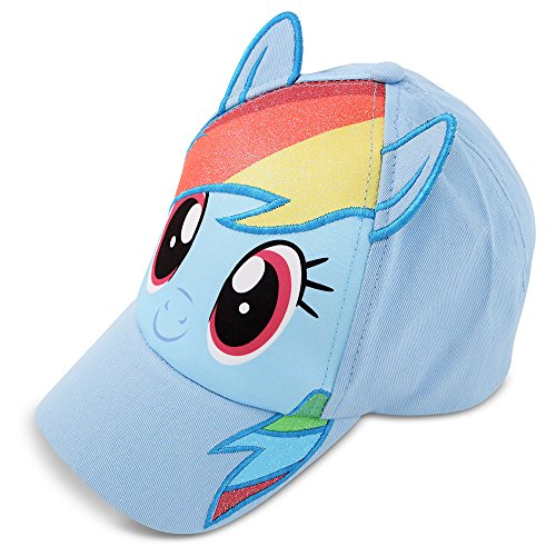 Hasbro girls My Little Pony Baseball Cap, Blue Rainbow Dash Baseball Cap, Age 4-7 US