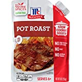 McCormick Slow Cookers Pot Roast Slow Cooker Sauce with Caramelized Onion & Cracked Black ...