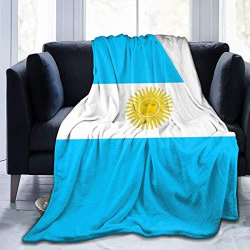 Ahdyr Manta de Forro Polar Bandera de Argentina Microfibra a Rayas Mantas de Cama Ligeras Mantas de Ropa de Cama súper Suaves Tamaño de Tiro 50x40 60x50 80x60 Pulgadas