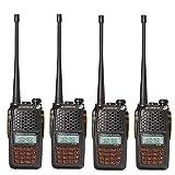 TYXS Walkie talkies Handheld 128CH para Acampar Aire Libre Supervivencia del Campo y Escalada (2 Piezas),B. 4 Piece Set