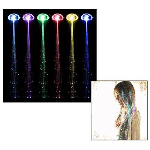 Itian LED Fiber Optic Lights Up Multicolor Hair Barrettes, LED Hair Lights, Party Favor