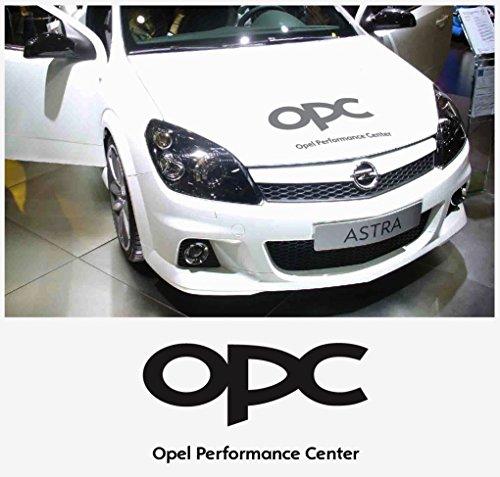 snstyling.com Pegatina para Encajar Opel OPC Tapa del Motor Pegatina Astra Corsa Vectra Zafira A B C D E F G H (Negro)