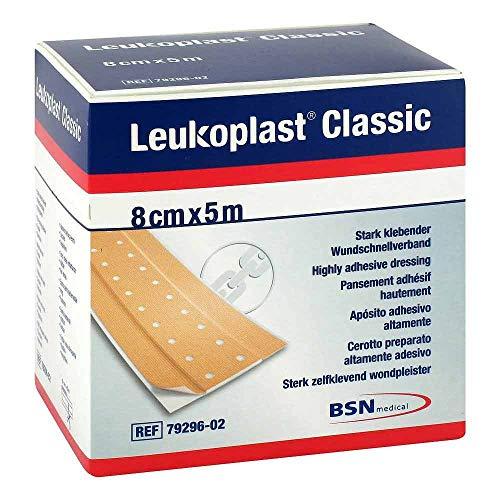Leukoplast Classic 8 cm x 5 m stark klebender Wundschnellverband, 1 St. Pflaster
