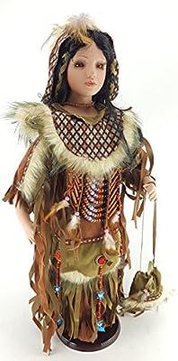 "Kinnex ZYNAYA 24"" Native American Dress Porcelain Collectible Doll D24626"
