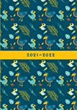 2021-2022: Small UK Academic Planner 2021-2022 / School Diary / Page A Day / Pretty Dodo Birds, Eggs, & Feathers