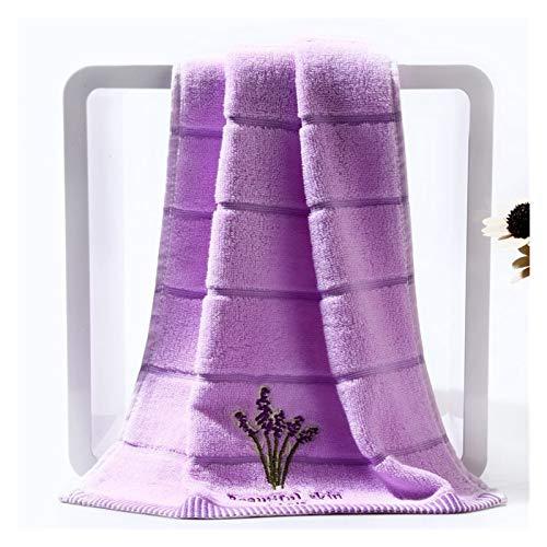 100% algodón fragancia pareja hotel de toalla conjunto de casas de lavanda bordado toallas de baño para una toalla de la toalla de la toalla de la toalla de la mano de la cara absorbente Baño blanco