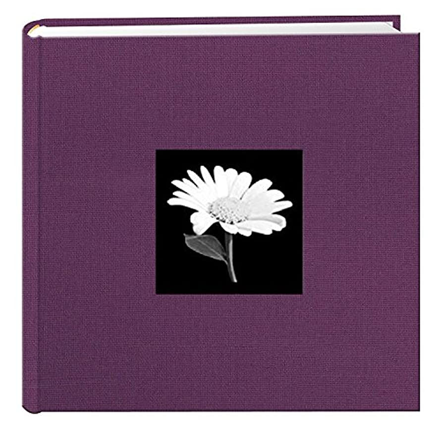 TSVP Photo Album 200 Pockets for 4x6 Photos Fabric Frame Cover Widberry Purple