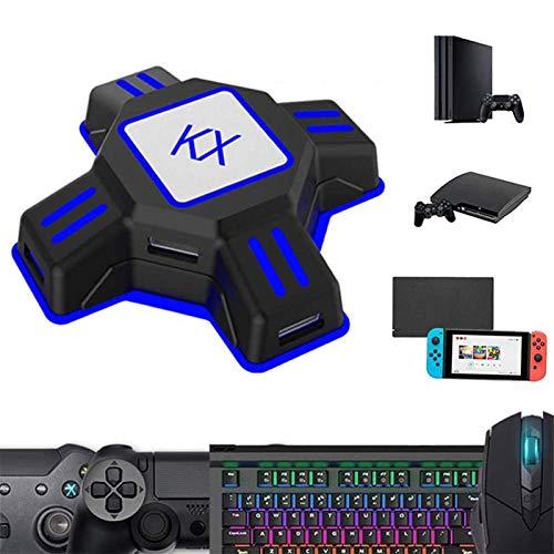 Adapter KX Tastatur und Maus Konverter USB Gaming Tastaturmauskonverter für Nintendo Switch/Xbox One / PS4 / PS3 Konsolen Plug & Play