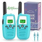 Walkie Talkie Niños, PMR446 8 Canales LCD Pantalla Función VOX Rango de 3KM, Incorporado Walkie Talkie Niñas Regalo para Niños(2 pack)