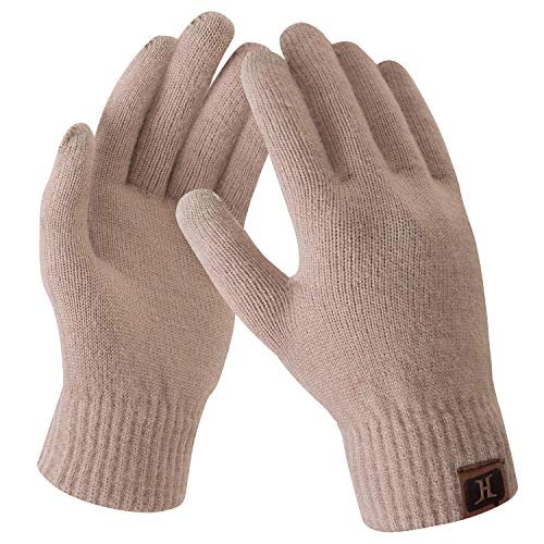 Bequemer Laden Damen Winter Warme Touchscreen Handschuhe Kamel