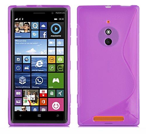 Cadorabo DE-102427 - Cover in Silicone TPU Flessibile per Nokia Lumia 830, Linea S, Colore: Viola