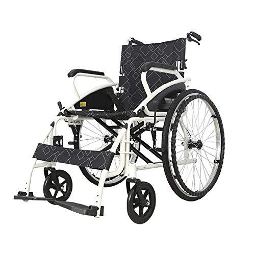 Leichte faltrollstuhl 200kg Rollstühle for Erwachsene 18 Zoll Sitz sichere schwarz Rests for zusätzlichen Komfort