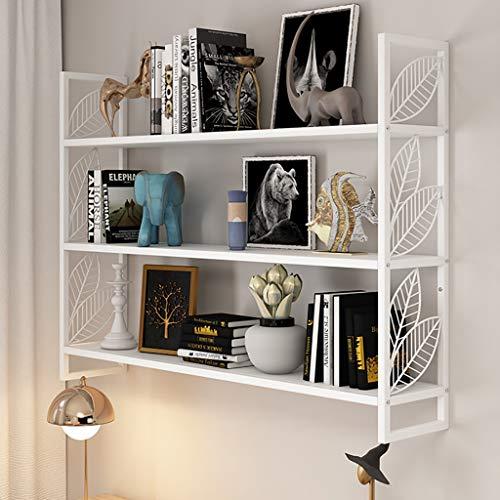 Zwevende plank Wandplank IJzeren Kunst Wit 3 Lagen Amerikaanse Muur Decoratie Slaapkamer Woonkamer Muur Ophangplank