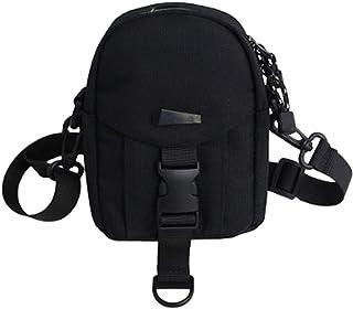 Van Caro Nylon Crossbody bag Cell Phone Pouch Wallet Purse Shoulder Bag Travel Packs for Unisex