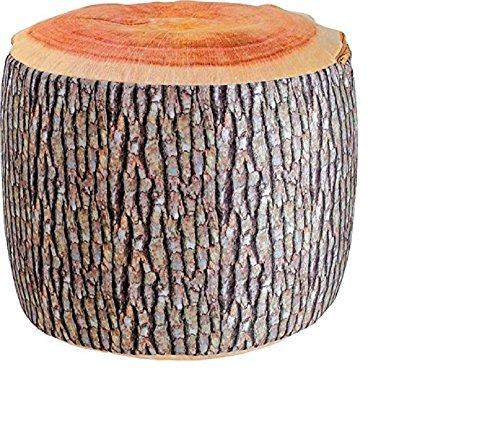 Boomstam zitkruk boomschijf Op het eerste gezicht een boomstam , maar dan ontpopt deze houten stam zich als kruk die een luchtkussen herbergt. Een echte blikvanger, niet alleen voor natuurliefhebbers. Afmetingen ca. 35 x 35 x 33 cm.