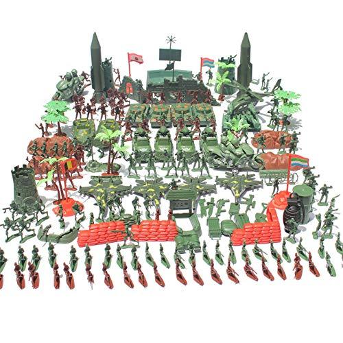 519 Stück Spielzeugsoldaten - Militärsoldat Granatentank Flugzeug Rakete Armee Männer Sand Szene Modell Kinder Soldaten Spielzeug Figuren Soldaten Set Zubehör Spielset