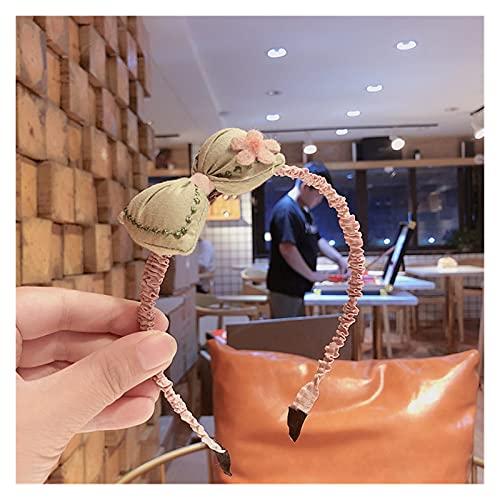 YINGNBH Banda para el Cabello Nueva versión Coreana Tridimensional algodón rellena pequeña Almohada Arco de Lana Flor niños Pelo aro Cabeza Corchete (Color : 5)