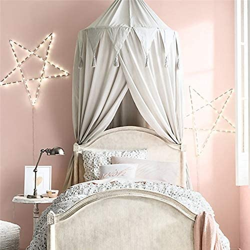 Kid Baby Bed Canopy Bedcover Mosquito Net Curtain Dome Tent Cotton Bedding Tools