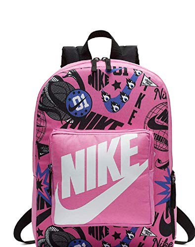 Nike Y Nk Classic Bkpk – Aop – Backpack Unisex Children, unisex_child, Backpack, BA5995 610, China Rose / Black / White, One Size