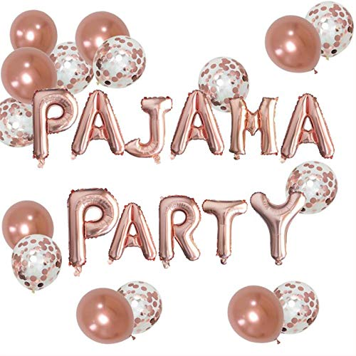 SISLEY FLARE Pajama Party Balloons Decoration Kit for Adault/Family Pajama Party, Slumber Party, Spa Party, Stay-at-Home Party, Sleepover Party & Girls Only Party- 27pcs