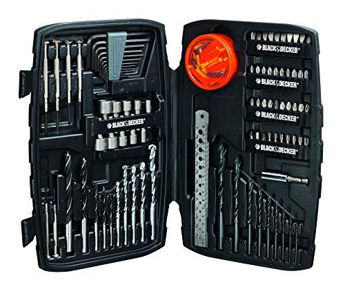 Black+Decker Gemischtes Set (mit Bohrern, Bits, Magnethalter im Koffer, 150- teilig) 1 Stück, A7212