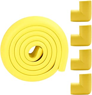 Amarillo, 2000mm*35mm*12mm Lvguang L Forma Bebes y Ni/ños Protector antigolpes para bordes de mesas y esquinas para beb/és