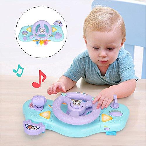 Volante giocattolo, gioco educativo con luci e suoni per bambini piccoli, per passeggino, centro attività per le prime fasi dell'apprendimento