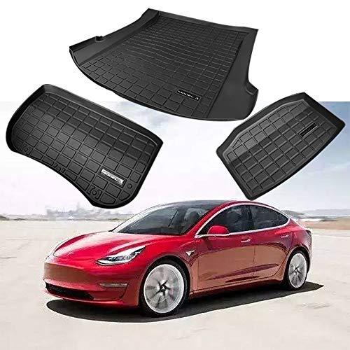 Alfombrilla De Goma Para Maletero De Coche Compatible Con Tesla Model 3,Con...