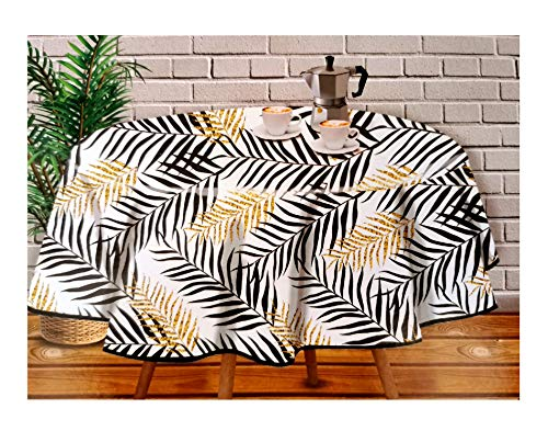 Nappe en toile cirée PVC – Imperméable – Usage intérieur et extérieur – Original 100 % – Motif tropical...