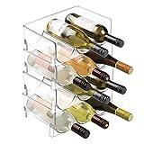 mDesign Estante para botellas – Ahorre espacio gracias a este botellero apilable y tenga siempre ordenadas sus botellas de...