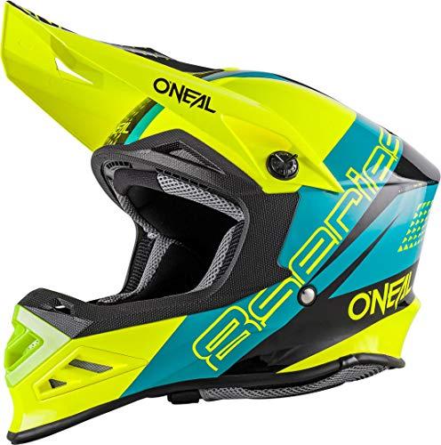 O\'NEAL 8 Series Motocross Enduro MTB Helm Nano blau/grün/schwarz 2018 Oneal: Größe: M (57-58cm)