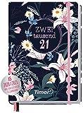 Chäff-Timer Premium Kalender 2020/2021 A5 [Dark Flower] Terminplaner 18 Monate: Juli 20 - Dez. 21 | Terminkalender, Wochenplaner, Wochenkalender, Organizer mit Gummiband und Einstecktasche
