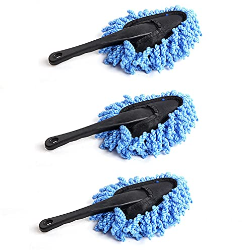 Xuptor - Spazzola per pulizia auto, 3 pezzi, colore: Blu