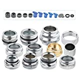 iFealClear Faucet Adapter Kit Kitchen Brass Aerator Adapter Set to Connect Garden Hose, Water Filter, Standard Hose -Adapter for Faucet sink-Female/Male -Chrome 13Pcs