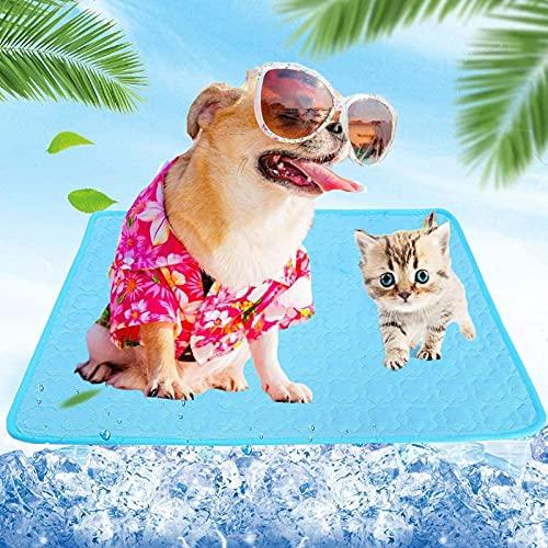 SunAurora Tappetino Rinfrescante per Animali, Portatile Tappetino Raffreddamento Cane, Animali Domestici Pad per Cucce,Divani,Pavimenti, Auto (55*70 cm)