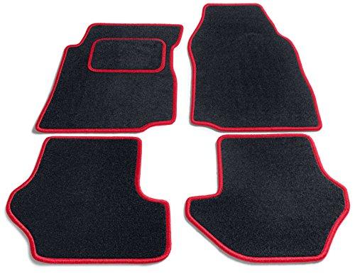 JediMats 26056 Java op maat gemaakte deurmat voor uw auto in kleur rood zwart
