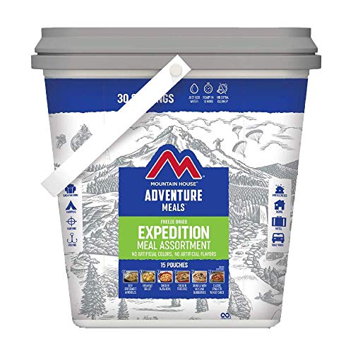 Mountain House Expedition Bucket | Freeze Dried Backpacking & Camping Food | 30 Servings