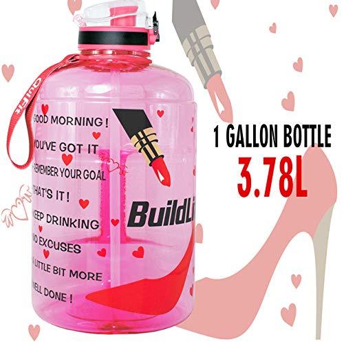 128 Unzen 73 Unzen 43 Unzen Sport Big Gallon Wasserflasche mit Filter Net Obst Infuse BPA frei My Drink Flaschen Krug Gourd Gym Wandern,Damen Pumps,1.3L