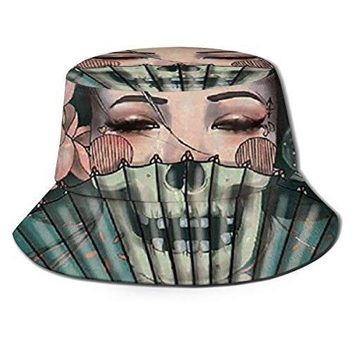 Dale Hill Berretti Geisha Giapponese Cappello da Pescatore Berretto da Pesca Visiera Parasole Cappellino Parasole