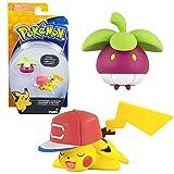 Pokemon Selezione Battle Pack Tomy   2 Pezzi Set   Action Figures, Figure di Gioco:Bounsweet vs. Pikachu Ash-Style
