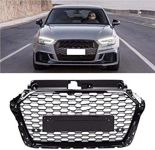 SIOM Abs-Kühlergrill, Auto Wabengrill Stoßstangengrill Racing Modifikation Lufteinlassgrill Für Audi A3 S3 8V 2013-2016