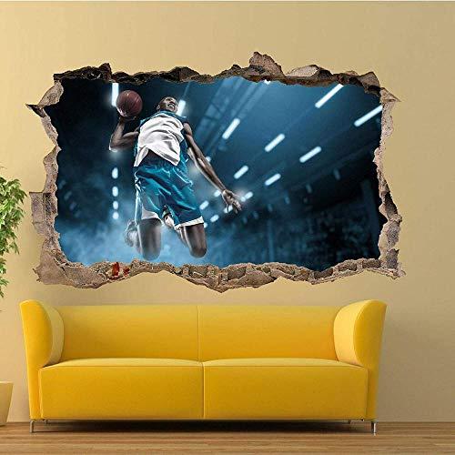 Pegatinas de pared Baloncesto partido Slamdunk etiqueta de la pared arte efecto cartel calcomanía mural Póster Arte 3D Mural 50x70cm