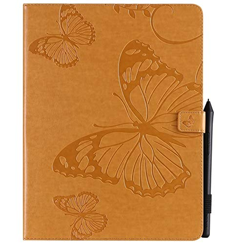 GROSSARTIG For New IPad Pro 12.9 Inch 2018 Release (3rd Gen) Business Horizontal Flip Waterproof Embossing Butterfly Pattern Premium Leather Protective Case Leather Hard Back Protective Stand Cover