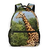 LNLN Mochila Casual para niñas Black Giraffe Laptop Backpack School Backpack for Men Women Lightweight Travel Casual Durable Daily Daypack College Student Rucksack 11 5in X 8in X 16in