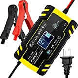 12V 8Amp/24V 4Amp Automotive Smart Battery Charger/Maintainer for Car, Truck, Motorcycle, Lawn Mower