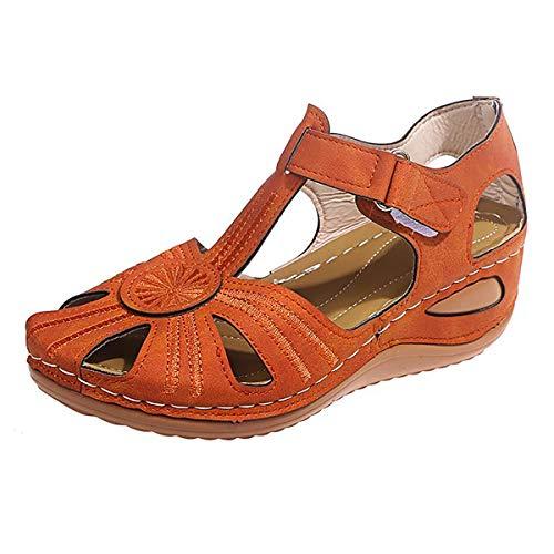 ZYGF Sandalen für Damen, Damensandalen mit abgeschrägtem Absatz, Gummisohle, wasserdichte und leichte Sandalen für Strand, Pool, Kreuzfahrt, Reisen