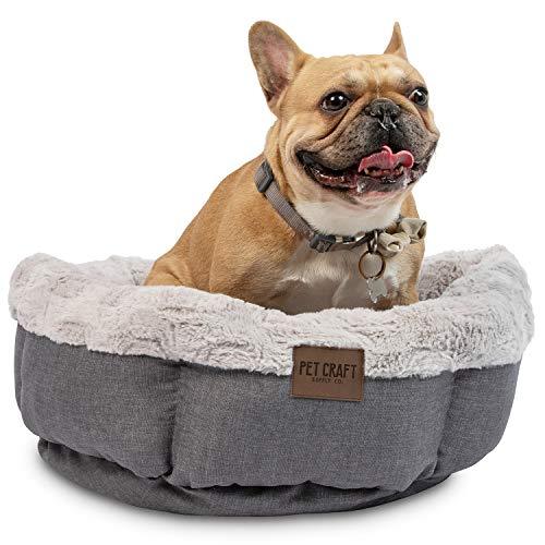Pet Craft Supply Soho Round Machine Washable Memory Foam Donut Cuddler Calming Style Small Dog Bed